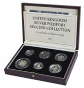 United Kindgom 6 Coin Silver Piedfort Collection